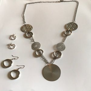 Jewelry - Necklace and two earring sets